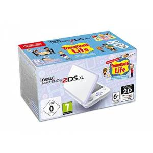 Nintendo New Nintendo 2DS XL blanc/Lavande & Tomodachi Life Préinstallé - Publicité