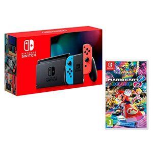 Nintendo Switch console Rouge Néon/Bleu Néon32Go + Mario Kart 8 Deluxe - Publicité