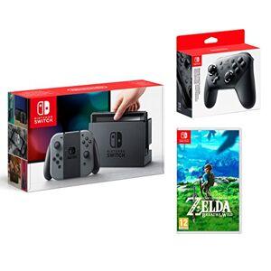 Nintendo Switch 32Go Gris + The Legend of Zelda: Breath of the Wild + Nintendo Pro Controller - Publicité