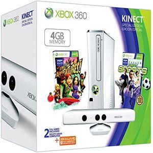 Microsoft Console Xbox 360 4 Go + Kinect blanche + Sports + Kinect adventures ! + Carte Xbox Live 3 mois - Publicité