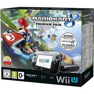 Nintendo Console Nintendo Wii U 32 Go noire + Mario Kart 8 préinstallé premium pack - Publicité