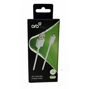ORB 3m Controller Charge Cable White (Compatible with Xbox One S) [Import Anglais] - Publicité