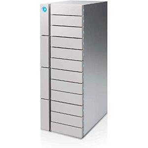LaCie 12big Thunderbolt 3, 120 To Matrice de disques, Supporte RAID 0/1/5/6/10/50/60, Argent (STFJ120000400) - Publicité