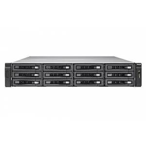 QNAP TVS-EC1280U-SAS-RP R2 Serveur NAS 12 Baies Rack-montable SATA 6Gb/s/SAS 12Gb/s Raid 0, 1, 5, 6, 10, JBOD, Disque de réserve 5, 6 disques de Secours, Disque de réserve 10, Disque de r - Publicité