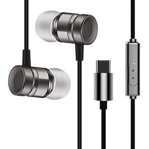 Triamisucake USB Type-C in-Ear Métal Écouteur Filaire Casque avec Micro Stéréo Hansfree Appel Type-C Numérique Écouteur Écouteurs pour Letv - Publicité