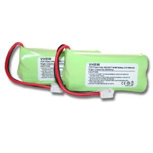 vhbw 2X NiMH Batterie 600mAh (2.4V) combiné téléphonique, téléphone Fixe Philips Kala 300, 300 Vox, 3322, 3350 comme 2HR-AAAU, H-AAA600X2, H-AAA500X2. Publicité