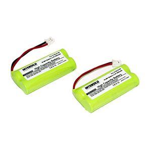 INTENSILO Lot de 2 batteries NiMH 800 mAh (2,4 V) pour téléphone sans fil Siemens Gigaset AL110, AL110 Duo, AL110 Trio, AL110a comme V30145-K1310-X359. Publicité