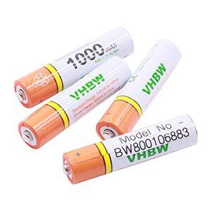 vhbw Lot 4 Piles Rechargeables AAA, HR03 1000mAh Compatible avec Siemens Gigaset A400a Trio, A400a Quattro, A585 Duo, A585 Quattro, AS285, AS320 - Publicité