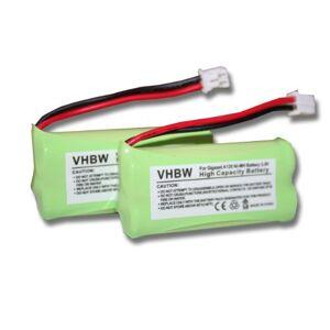 vhbw Set de 2x NiMH Batterie  700mAh (2.4V) pour téléphone, fixe Siemens Gigaset al110, al110Duo, al110Trio, al110a, al110a Duo, al110a Trio - Publicité