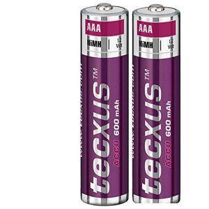 Tecxus 2x AAA NiMH 600mAh Batteries pour téléphones sans fil Siemens Gigaset A415C430S810E500E500A A580A585A400A415Duo/Trio - Publicité