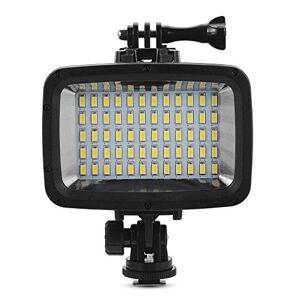 RinTalen Lumire de plongée, lampe de remplissage étanche 40M, XIEHAIGE 12W 60 LED 1800lm avec charge USB 2X18650 Batterie incluse pour GoPro Hero 5/4/3 + / 3/2 - Publicité