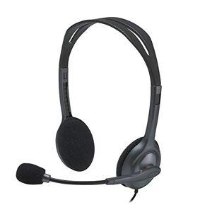 Logitech H111 Casque Filaire, Ecouteurs Stéréo avec Micro Anti-Parasite, Jack Audio 3,5mm, PC/Mac/Portable/Smartphone/Tablette Noir - Publicité