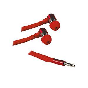 Metronic 471004 Ecouteurs Lacet avec Micro. Rouge - Publicité