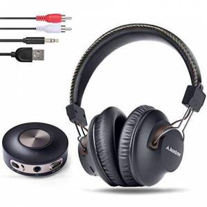 Avantree HT3189 Casque TV sans Fil avec émetteur Bluetooth, 3.5mm & RCA (Pas Optique) Audio USB sur PC Supporté, Pré-appairé, Plug and Play, Faible Latence, Longue portée, Autonomie 40 Heures - Publicité