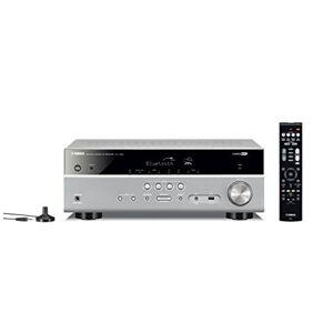 Yamaha RX-V385 – Amplificateur Home Cinema 135W – Système Bluetooth avec Compressed Music Enhancer – Compatible avec smartphones et ordinateurs – Titane - Publicité