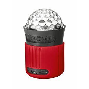 Trust Dixxo Go Enceinte Bluetooth Portable sans Fil avec LED Illumination (6 Watt) Rouge - Publicité