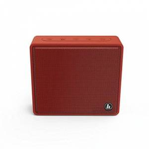 """Hama Enceinte Bluetooth mobile """"Pocket"""" (Haut-parleur Bluetooth portable avec lecteur de carte micro SD, sans fil pour la lecture de musique via smartphon, lecture MP3, haut-parleur, AUX) Rouge - Publicité"""