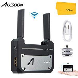 Accsoon CineEye 1080p Transmetteur Vidéo sans Fil 5G,WiFi HD Transmetteur,Se Connecter  4 Appareils Simultanément, Prise en Charge Android et iOS,RGB,3D LUT Loading Portée 100m - Publicité