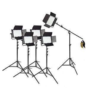 PIXAPRO VNIX1000S/VNIX1000B Kit clairage Options clairage Lumire Studio Photographie * 2 Year Garantie RU *Livraison Rapide* Stocks UK * VAT Enregistré (Cinq Tte Kit Boom avec Piles, 1000S) - Publicité