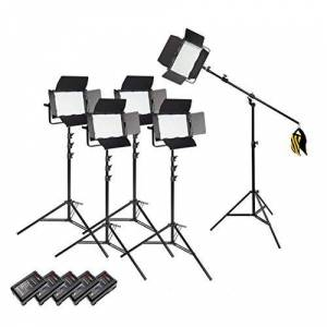 PIXAPRO VNIX1000S/VNIX1000B Kit clairage Options clairage Lumire Studio Photographie * 2 Year Garantie RU *Livraison Rapide* Stocks UK * VAT Enregistré (Cinq Tte Kit Boom avec Piles, 1000B) - Publicité