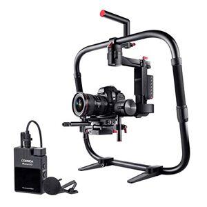 PIXAPRO Moza Lite Stabilisateur vidéo 2P avec transmetteur et récepteur Comica Boomx-D D1 Audio Recorder Systme de microphone Lisse Motion Film Interview Rapport d'interview - Publicité