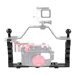 AVANI EXCHANGE PULUZ PU262 plongée réglable Double poignée Portable CNC Lampe en Aluminium Support de Bras Magique stabilisateur - Publicité