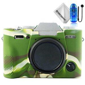 first2savvv caoutchouc Etui sur mesure pour appareil photo Fujifilm X-T20 X-T10 XT20 + Lecteur de carte SD + Corde Lens + Chiffon de nettoyage XJPT-GJ-XT20-06TZ2 - Publicité