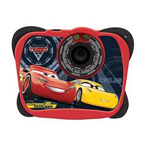 Cars Lexibook Disney Pixar  3 Flash McQueen Appareil photo numérique 5MP, écran LCD, fonction vidéo et webcam, à piles, rouge/noir, DJ134DC - Publicité