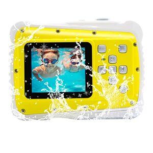 Vmotal GDC5261 Appareil Photo numérique étanche avec Zoom numérique 4X / 8MP / cran LCD TFT de 2 Pouce/caméra étanche pour Enfants (Jaune) - Publicité