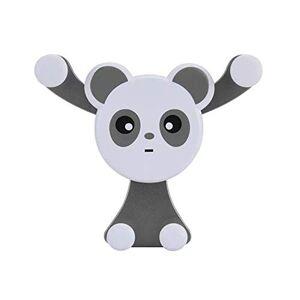VVVVANKER Auto Serrure Cute Dessin animé Panda Forme Voiture air véhicule Gravity Support Porte-téléphone Berceau Stent Gris - Publicité