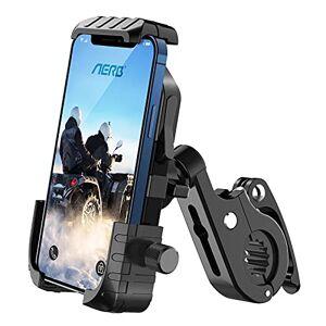 Aerb Support Téléphone de Vélo Téléphone Guidon de Vélo Moto Berceau Collier, Compatibilité Universelle pour Smartphone de 4,7  6,8 Pouces GPS, Guidon de 15  30 mm, pour Vélo VTT Moto Scooter (Noir) - Publicité