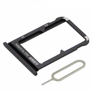 MMOBIEL Dual Sim Card Tray Slot Compatible avec Xiaomi MI 9 219 6.39 inch (Piano Black/Noir) INCL. Sim Pin - Publicité