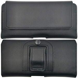 MOELECTRONIX tui de protection en cuir véritable pour Samsung Galaxy A51 SM-A515F Avec clip et dragonne Noir - Publicité