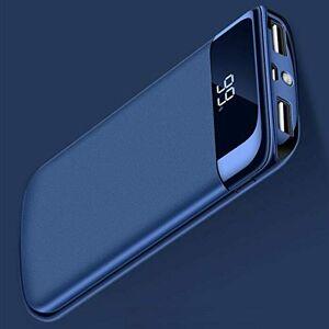 Fast 500000mAh -Chargeur de Batterie de Secours pour Batterie de Secours USB LCD/LED Banque pour téléphone Mobile (Bleu) - Publicité