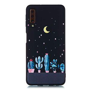 Nodigo Coque Compatible avec Samsung Galaxy A7 2018 Silicone Motif Drle Noir Créatif Antichoc Pas Cher TPU tui Anti Choc Bumper Kawaii Mat Case Cover One Piece Housse Cactus - Publicité