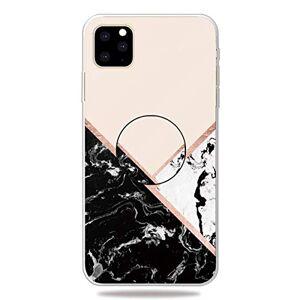 """RFENGYUN Coque iPhone 11 Pro Max 6.5"""" Etui, Ultra-Mince TPU Anti Choc Housse de Protection Case Silicone avec Porte-Clip pour Casque.(Black-White-Pink) RF39 - Publicité"""