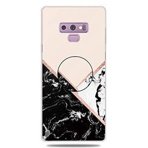 RFENGYUN Coque Samsung Galaxy Note 9 Etui, Ultra-Mince TPU Anti Choc Housse de Protection Case Silicone avec Porte-Clip pour Casque.(Black-White-Pink) RF39 - Publicité