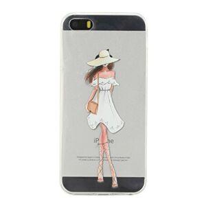 Kihying Coque pour Apple iPhone 5 / 5G / 5S / Se (4.0 Pouces) Coque Housse Peint Antichoc Transparent Silicone Souple de TPU tui pour téléphone (Modle-HX27) - Publicité