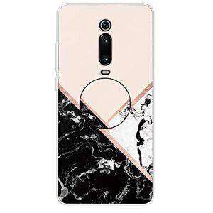 RFENGYUN Coque Xiaomi Mi 9T, Coque Xiaomi Mi 9T Pro, Coque Redmi K20, Coque Redmi K20 Pro Etui, Ultra-Mince TPU Anti Choc Housse de Protection Case Silicone avec Porte-Clip pour Casque.(Black-White-Pink) RF39 - Publicité