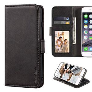 Shantime Alcatel One Touch Pop Star 4G 5070X 5070D tui portefeuille en cuir avec emplacements pour cartes et espces Noir - Publicité