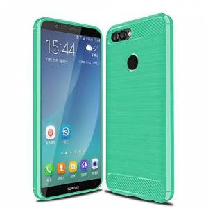 Cruzerlite Huawei P Smart Coque, Carbon Fiber Shock Absorption Slim Case for Huawei P Smart (Teal) - Publicité