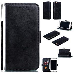 RFENGYUN Coque pour Apple iPhone 6 Plus, Coque iPhone 6S Plus Housse Etui, tui en Cuir PU Kickstand Cover (Black) Cas de Fermeture magnétique étui Portefeuille TPU Cas. RF04 - Publicité