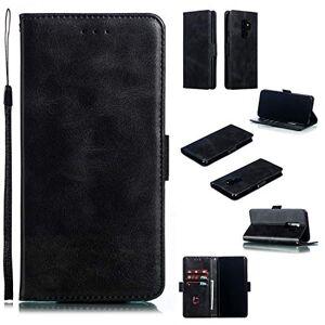 RFENGYUN Coque pour Samsung Galaxy S9 Plus, Coque Galaxy S9+ Housse Etui, tui en Cuir PU Kickstand Cover (Black) Cas de Fermeture magnétique étui Portefeuille TPU Cas. RF04 - Publicité