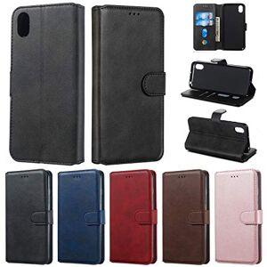 RFENGYUN Coque Huawei Y5 2019, Coque Honor 8S Housse Etui, tui en Cuir PU Kickstand téléphone Cas Etui pour téléphone TPU Cas Flip Phone Case.(Black) RF12 - Publicité