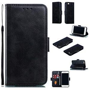 RFENGYUN Coque pour Apple iPhone 6, Coque iPhone 6S Housse Etui, tui en Cuir PU Kickstand Cover (Black) Cas de Fermeture magnétique étui Portefeuille TPU Cas. RF04 - Publicité