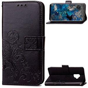 RFENGYUN Coque Samsung Galaxy S9 Etui, Housse en Cuir en Relief Cas de téléphone Antichoc Kickstand Case TPU Cas Etui pour téléphone (Black). RF08 - Publicité