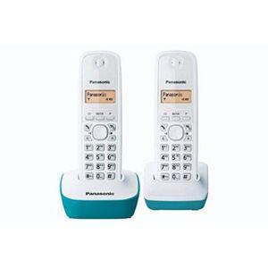 Panasonic KX-TG1612FRC Téléphone Duo sans fil DECT sans répondeur Bleu [Version Franaise] - Publicité