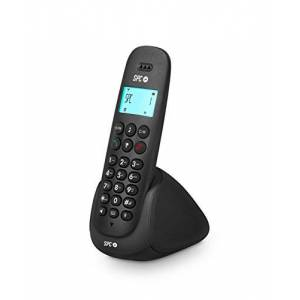 SPC Art Téléphone sans Fil avec répertoire, Mains Libres et Identification de l'appelant Couleur Noire - Publicité