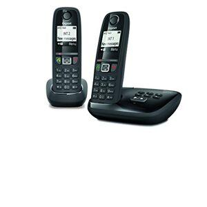 Siemens AS470A Duo Téléphone fixe sans fil Répondeur 2 combinés Noir - Publicité