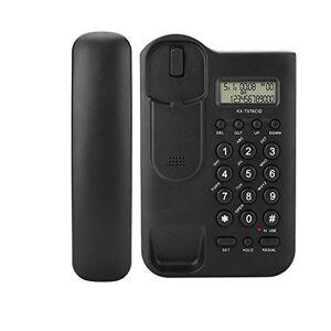 Tosuny Téléphone Filaire, téléphone Fixe avec Haut-Parleur avec Son Clair avec Identification de l'appelant et systme de répondeur Automatique Htel  Domicile avec Fil de Bureau Noir/Blanc(Noir) - Publicité